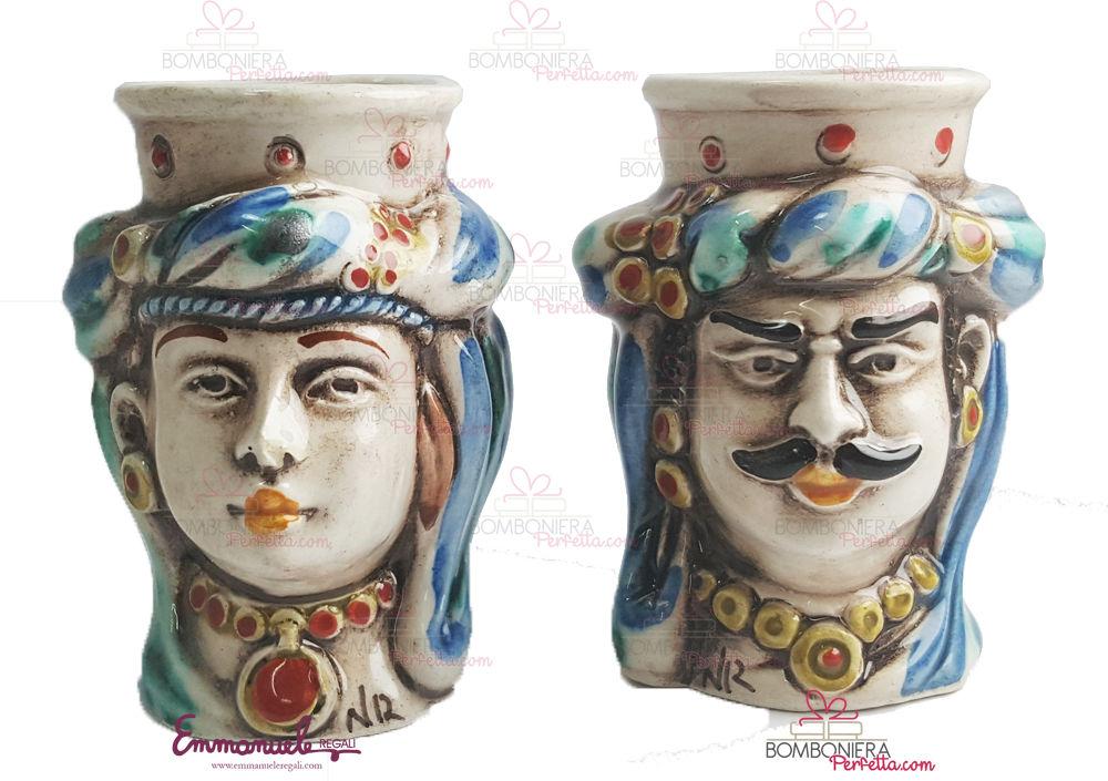 collezione_ceramica_nonna_rosa_teste_di_moro_decoro_tessuto_emmanueleregali_bombonieraperfetta