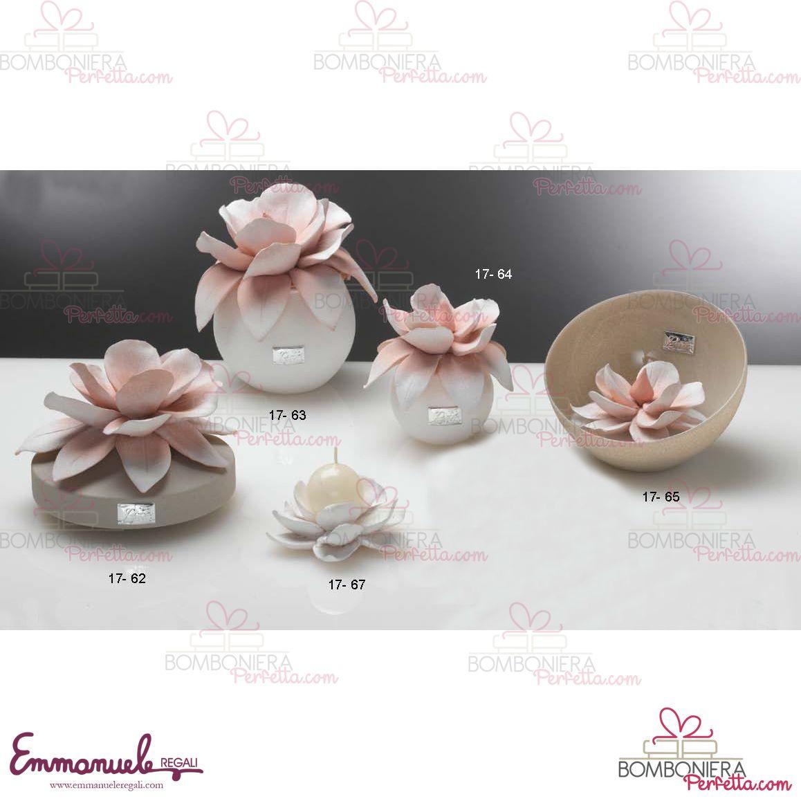 Profumatori con fiore in capodimonte Linea Magnolia