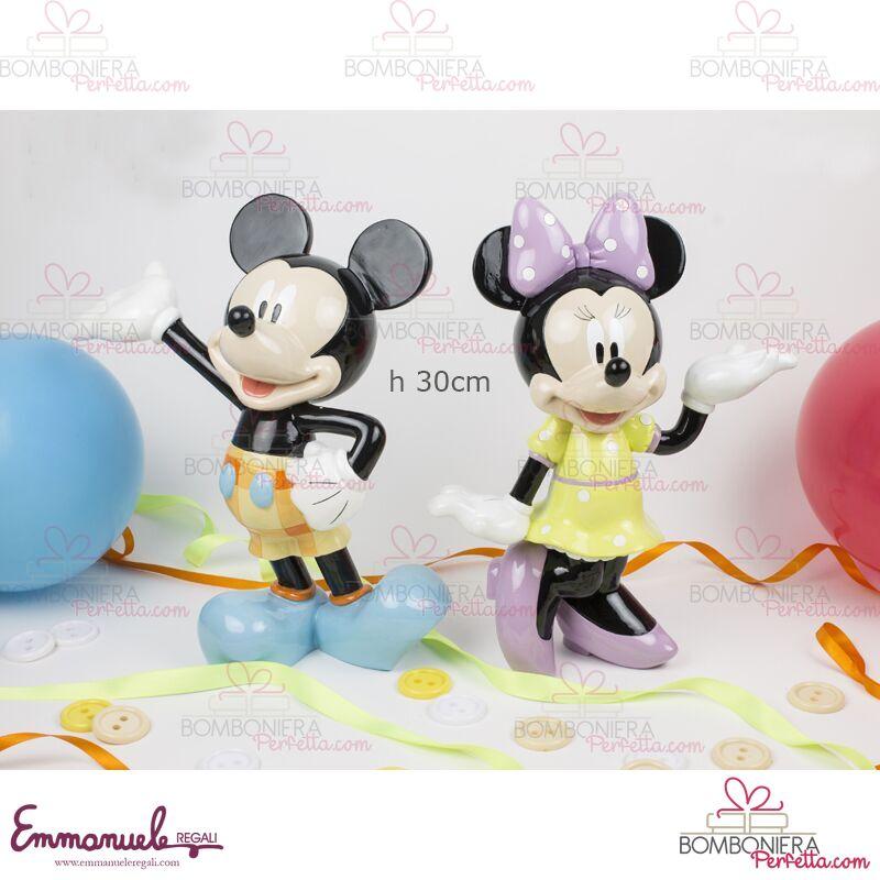 Bomboniere Matrimonio Walt Disney.Walt Disney Topolino E Minnie In Resina 30cm